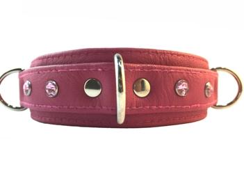 Collar-3D-Thin-Pink-Lthr-350