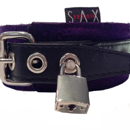 Collar Suede purple locking2-500