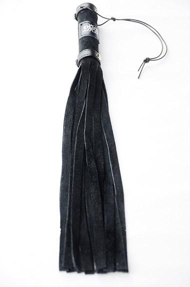 Flogger-30cm-Black-Suede