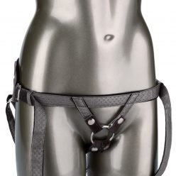 CALEXOTICS – Her Royal Harness: The Regal Princess Strap-On Harness Pewter O-Ring Vegan Leather